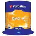 VERBATIM DVD-Recordable 16X, Spindle 100's