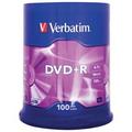 VERBATIM DVD+Recordable 16X, Spindle 100's