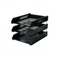 Pop 3 Tier Letter Tray PDT10431 Blk