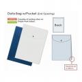 PLUS Gusseted Data Bag, Potrait (Blue)