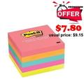 "3M Post-it Premium Note, 3x3"" 5 Pad (Neon)"