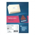 AVERY White Mailing Label, 99.1x33.9mm x 1600's