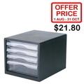 POP BAZIC File Cabinet 9774, 4 Drawer (Blk)