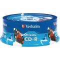 VERBATIM CD-R 52X Printable, Spindle 25's